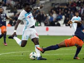 Gomis, que hizo 'hat trick', anotó los dos primeros goles del partido. AFP