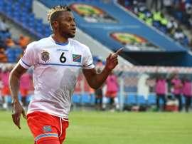 Lattaquant de la RD Congo Junior Kabananga auteur du second but face à la Côte dIvoire. AFP