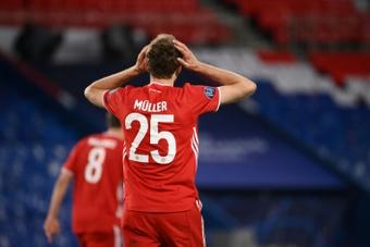 Müller, listo para medirse al Barcelona. AFP