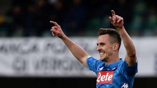 Naples fixe un prix pour Milik. AFP