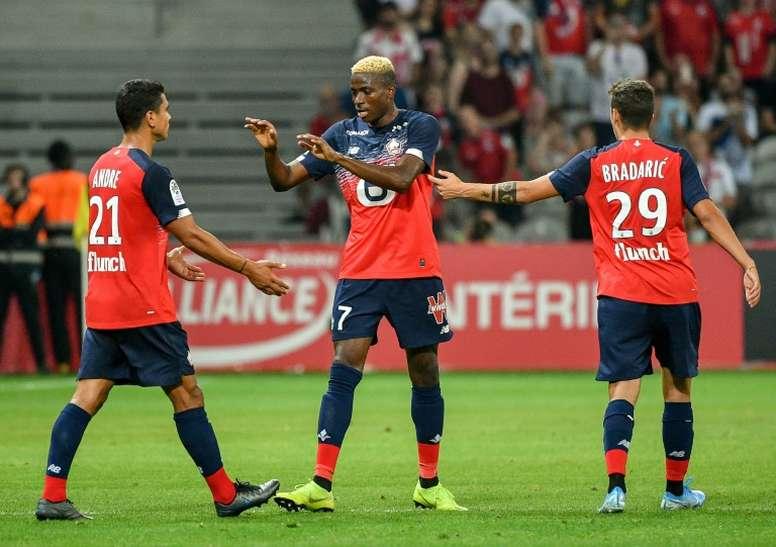 El Lille rechazó una oferta desde España por Osimhen. AFP
