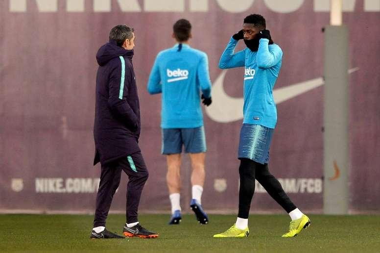 Valverde regrette la nouvelle blessure d'Ousmane Dembélé. AFP