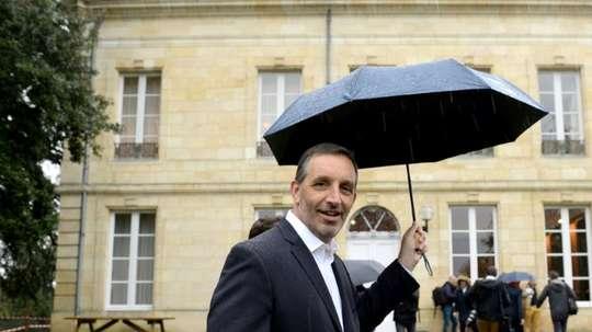 L'Américain Joseph DaGrosa, arrive au Château du Haillan. AFP