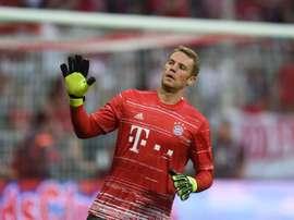 Manuel Neuer, le 26 août 2016 avant le match du championnat allemand Bayern-Werder Brême. AFP