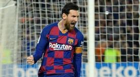 Leo Messi, más leyenda aún en la Champions. AFP