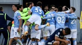 Lazio will share their plane. AFP