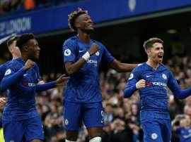 Hudson-Odoi would love to play alongside Jadon Sancho at Chelsea. AFP