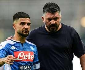 Insigne analizó la derrota del Nápoles. AFP