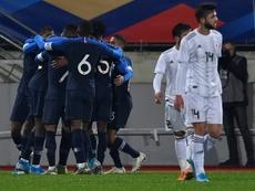 Les Bleuets s'imposent dans la douleur face à la Géorgie. AFP