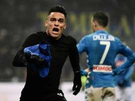 Le Racing gagne à chaque fois que Lautaro joue avec l'Inter. AFP