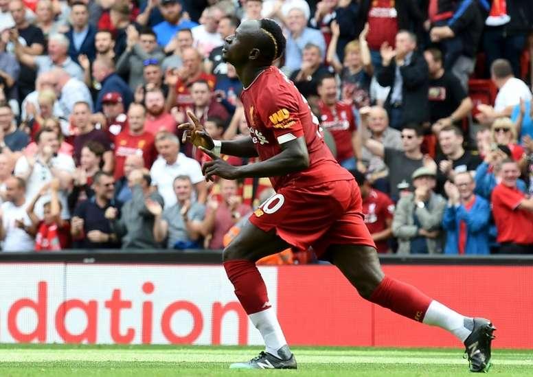 El Liverpool quiere blindar a Mané. AFP/Archivo