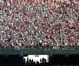 Les supporters de River Plate dans le stade Monumental de Buenos Aires. AFP