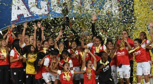 L'Independiente Santa Fe victorieux du premier championnat féminin de l'histoire du football. AFP