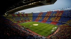 Appel à un rassemblement de séparatistes catalans devant le Camp Nou. AFP