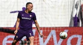 Ribéry se sale en la Fiorentina. AFP