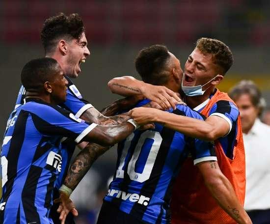 l'Inter Milan s'installe derrière la Juventus. AFP