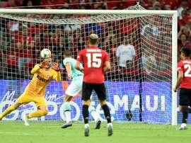 United convence contra Inter no primeiro teste sério. AFP