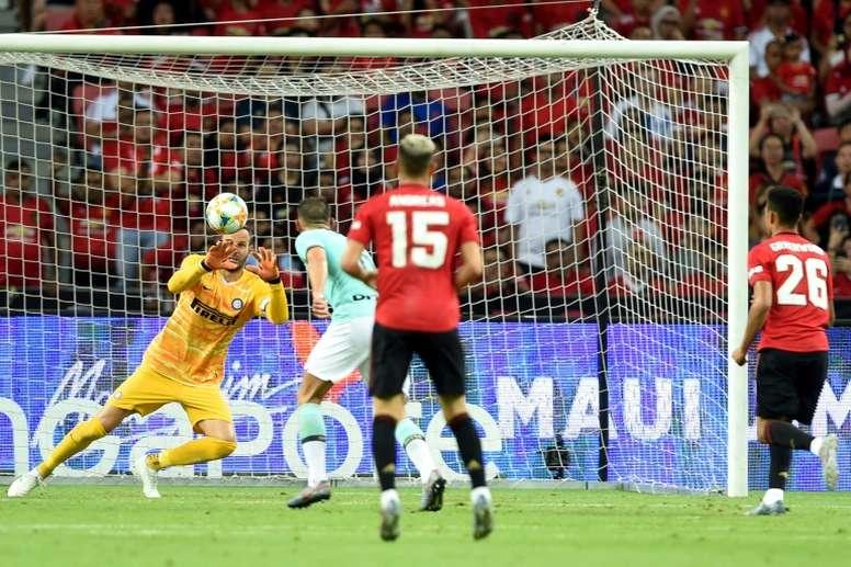 El United venció al Inter por la mínima. AFP