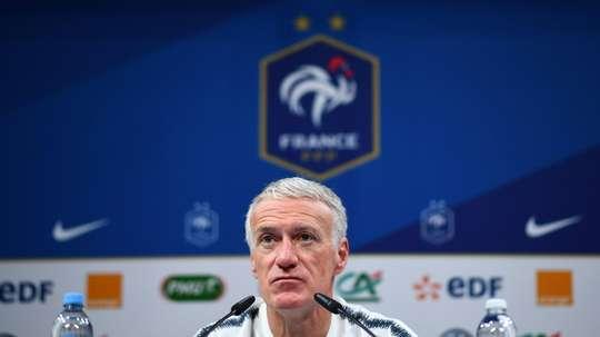 Didier Deschamps en conférence de presse. AFP