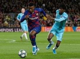 Nelson Semedo deve deixar o Barcelona e atuar no futebol italiano. AFP