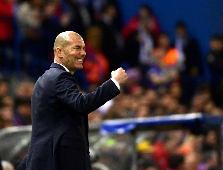 Le grand objectif de Zidane est d'être champion. AFP