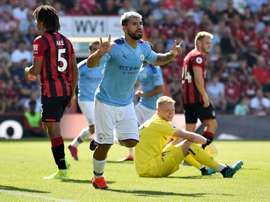 Sem se despentear o City vence o Bournemouth. AFP