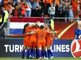 Les Néerlandaises victorieuses de la Norvège en ouverture de l'Euro à Utrecht. AFP