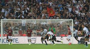Rodrigo Becao (c) buteur lors de la victoire à domicile. AFP