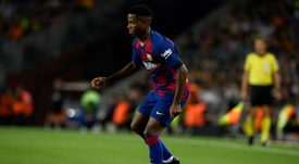 Fati got on the scoresheet in Barca's crushing win over Valencia. AFP