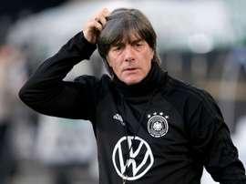 Joachim Löw lors dune séance dentraînement à Wolfsburg. AFP
