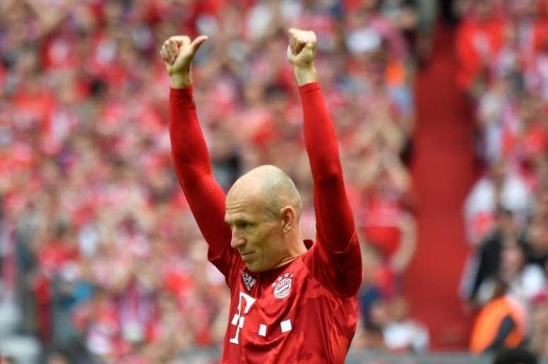 Robben anuncia aposentadoria aos 35 anos. AFP