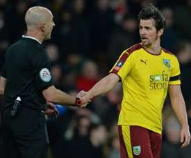 Joey Barton pictured in FA Cup action for Burnley in 2016. AFP