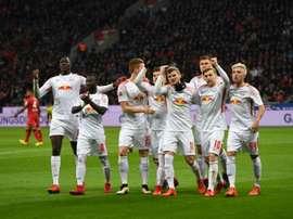 O RB Leizpig recebeu e venceu o Werder Bremen. AFP