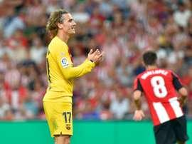 O Atlético retira a denúncia contra o Barcelona na Liga. AFP