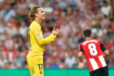 Derrière le Real et l'Atlético pour la première fois depuis 15 ans. AFP