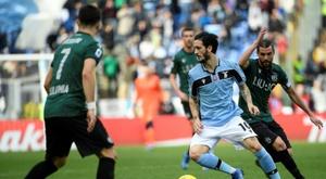 La Lazio Rome passe en tête. AFP