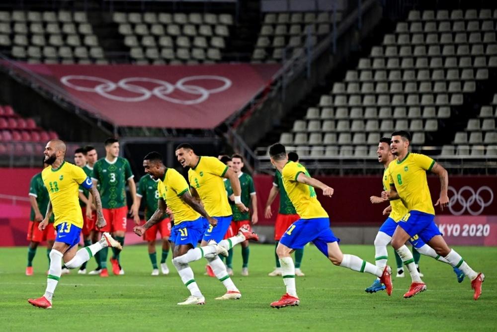 Le Brésil retrouvera la finale des Jeux Olympiques. AFP