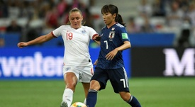Georgia Stanway et Emi Nakajima, le 19/06/19. AFP
