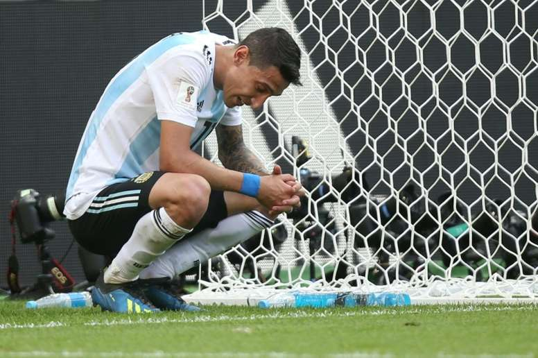 Di María quiere volver a jugar con Argentina. AFP