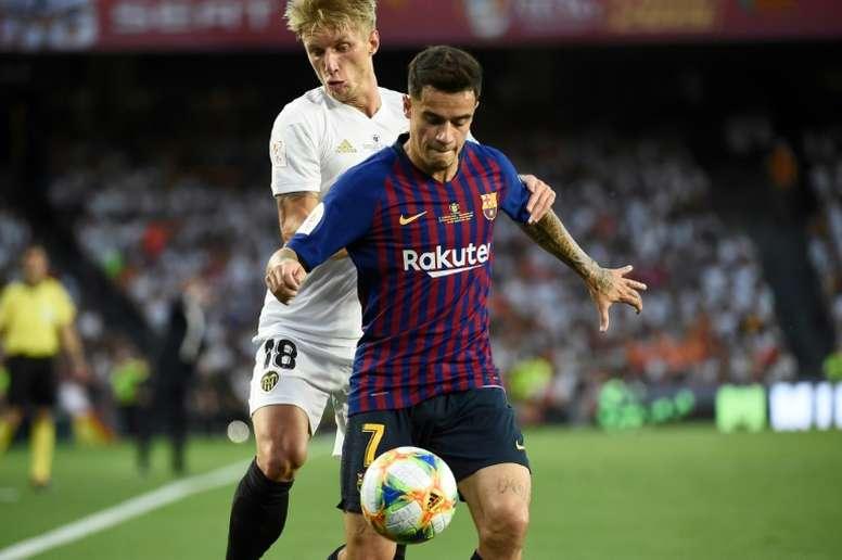 Réunion pour Coutinho à Barcelone. AFP