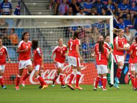 Les Suissesses ont dominé les Islandaises à l'Euro,avec notamment un but de Dickenmann. AFP