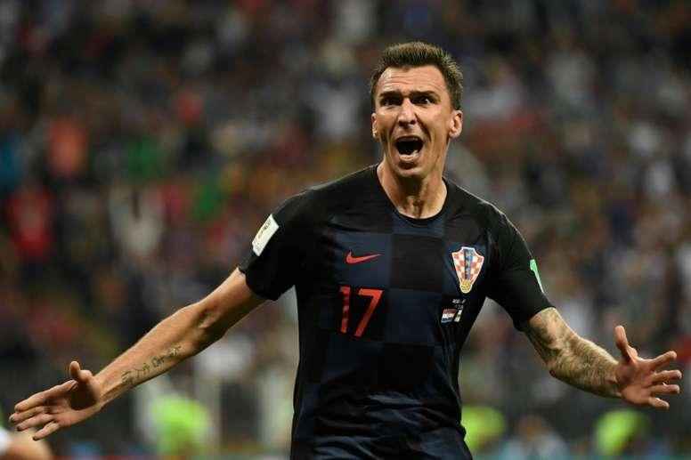 Mandzukic, un héroe para Croacia. AFP