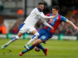 Crystal Palace e Leicester estão separados por apenas dois pontos na classificação. AFP