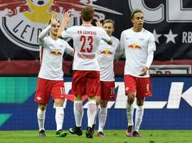 El Leipzig sigue imparable en la Bundesliga. AFP