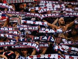 Les supporters du Paris SG lors de la réception de l'Etoile Rouge de Belgrade. AFP