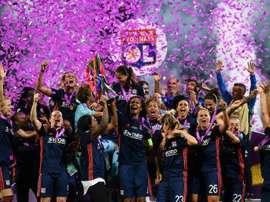 O Lyon voltou a ganhar a final, deste vez, contra o Wolfsburgo. EFE