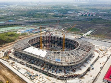 La Chine affiche sa soif de Mondial avec de nouveaux stades. AFP