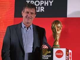 Kempes no dudó en defender a Leo Messi. AFP