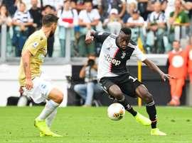 Blaise Matuidi (d), lors du match de Serie A face à Spal. AFP