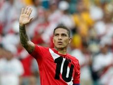 L'attaquant péruvien Paolo Guerrero à l'issue du match de la phase de groupes du Mondial 2018. AFP